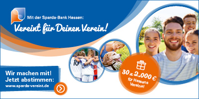 30 x 2.000 Euro für Hessens Vereine!  Wir machen mit. Jetzt jeder abstimmen!